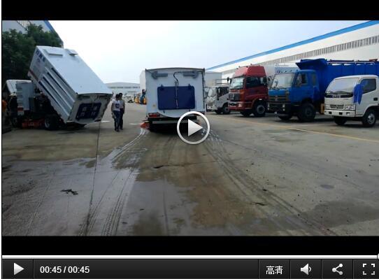 东风多利卡扫路车视频